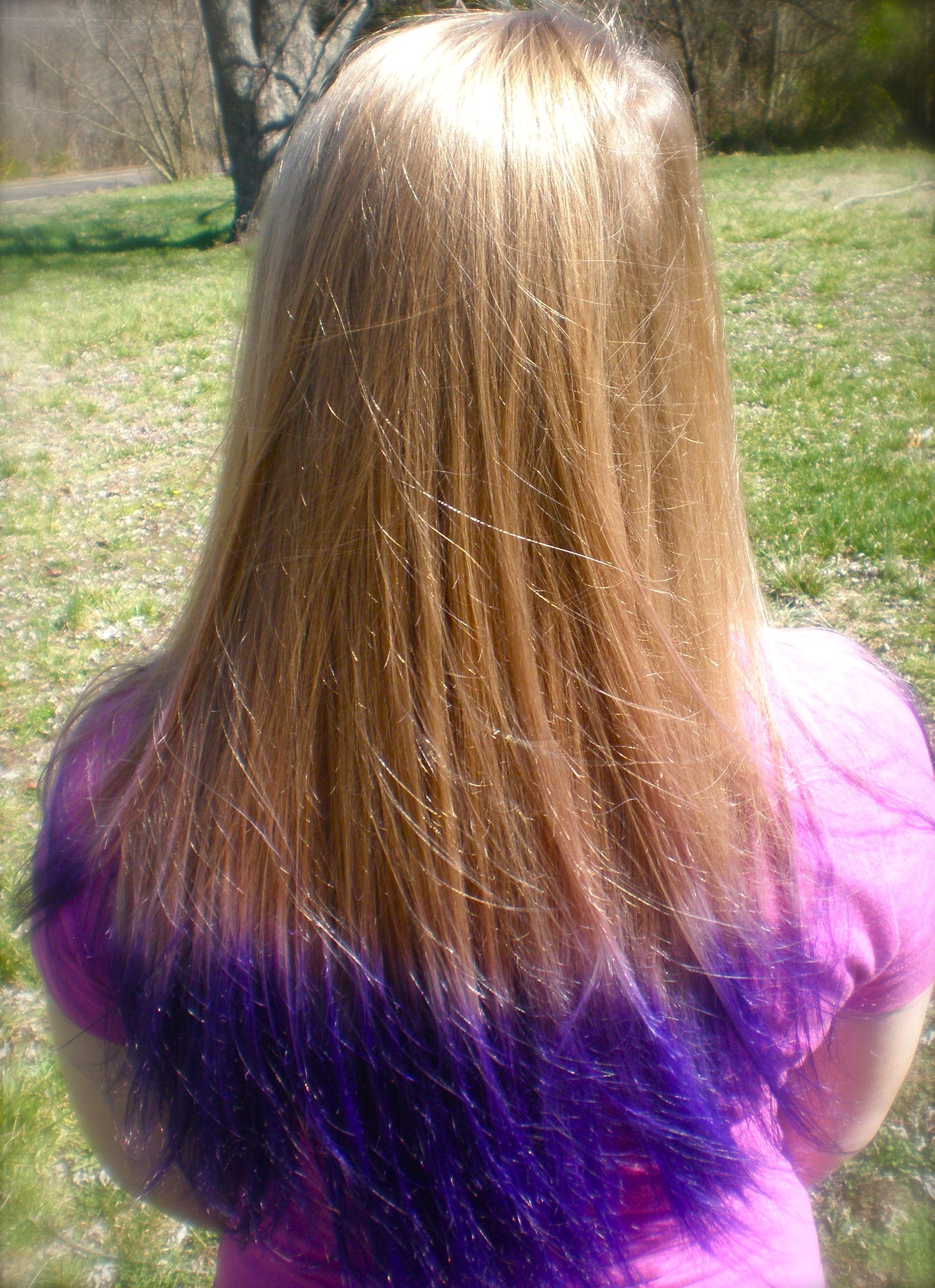 Purple Tips Blonde Purple Tips Hair Blonde Hair With Purple