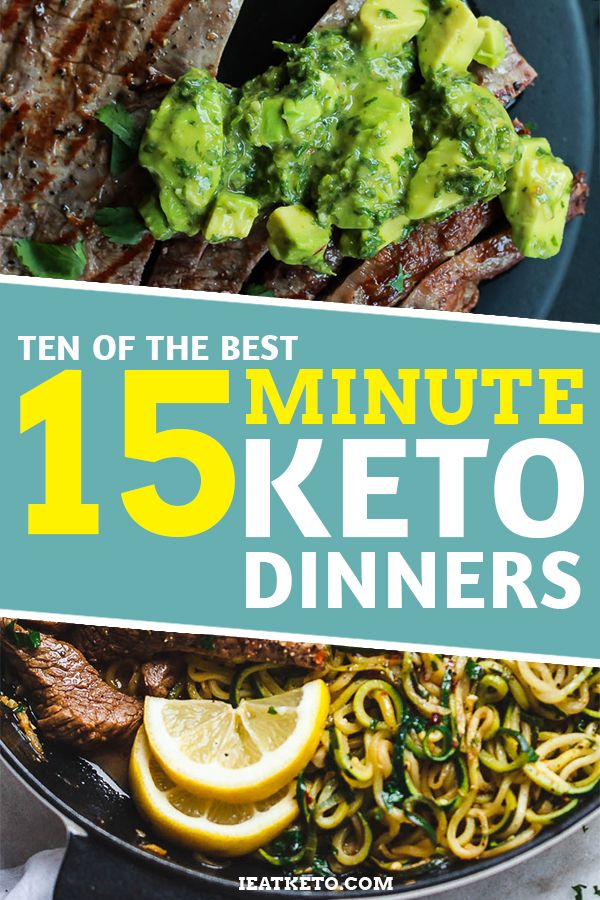 10 Of The Best 15 Minute Keto Dinners Keto Recipes Pinterest
