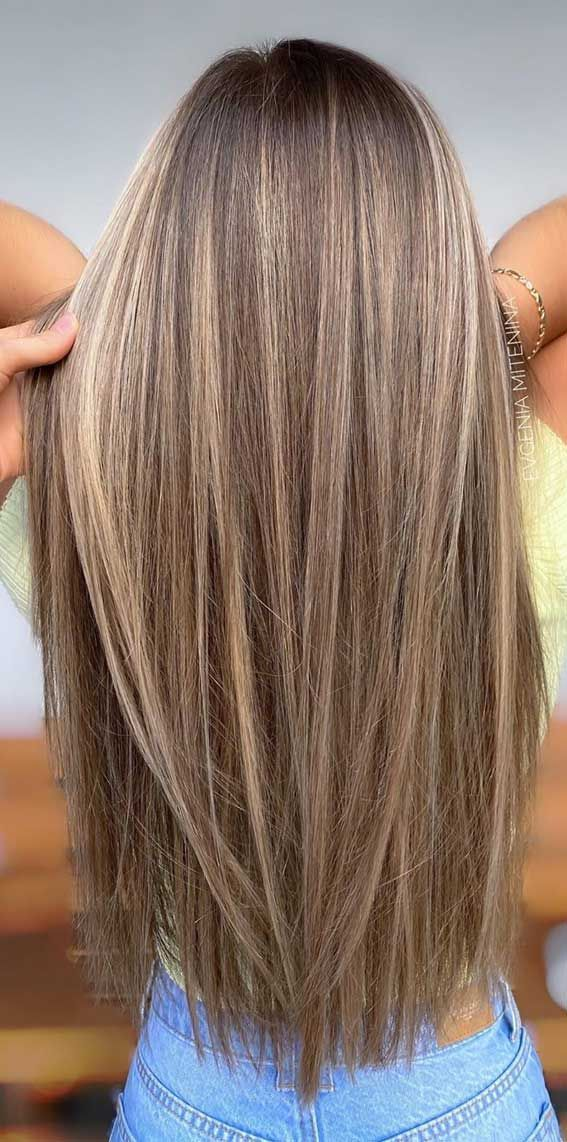 The Best Hair Color Trends and Styles for 2020 – Brown hair with subtle golden -…