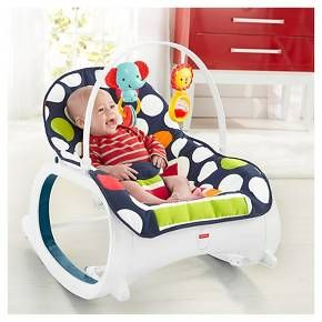 Fisher-Price Infant-to-Toddler Rocker - Navy dots