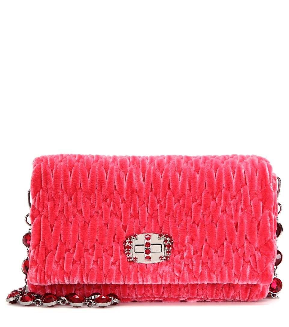 Miu Miu Velvet Shoulder Bag