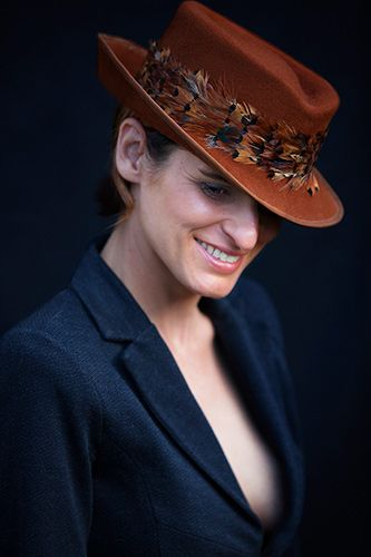 Andrew Ogilvy Photography - MIlliner Louise Pocock in one of her hats
