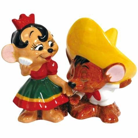 """Speedy Gonzales & Señorita Mouse"" Salt and Pepper Shaker Set by Westland Giftware"