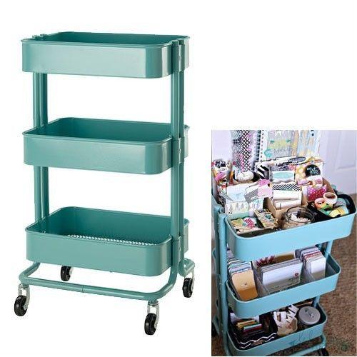 Details About Ikea Beige Raskog Kitchen Cart Mobile Storage