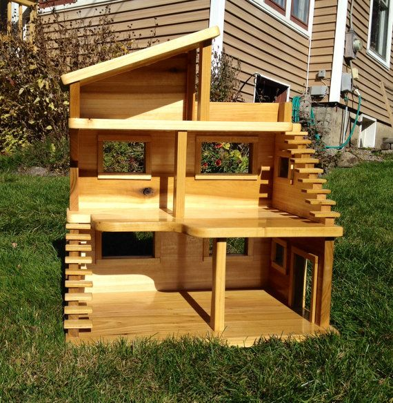 Handmade Wooden Dollhouse By Saranaclakewoodworks On Etsy 279 00