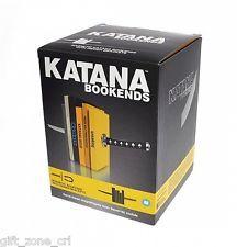 Mustard KATANA BOOKENDS Samurai Sword Magnetic Bookends BLACK