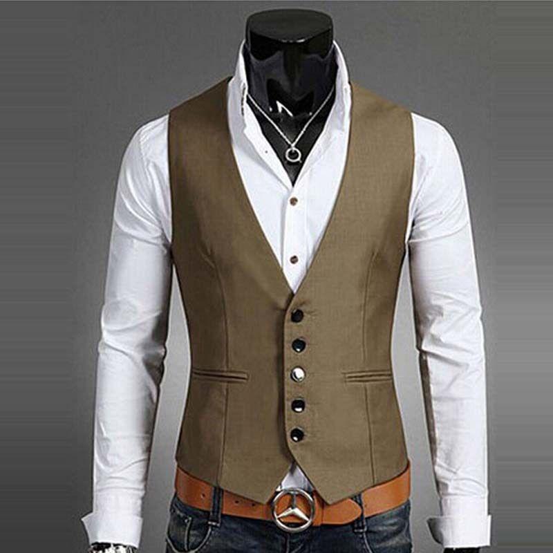 2016 Slim Fit Dress Suit Vest Men BOSS Men Vest Waistcoat Men ...