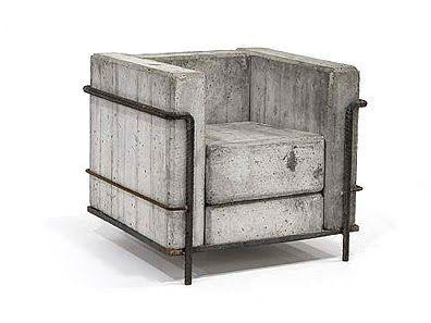 concrete corbusier. Probably more conceptual than comfortable.