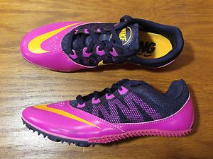 Nike Rival S 7 Women's Size 7.5 Pink Black Track Field Shoes Spikes New 615998
