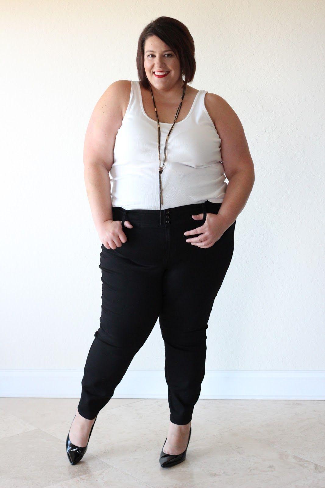 jessica kane how to style black plus size skinny denim jean - Plus ...