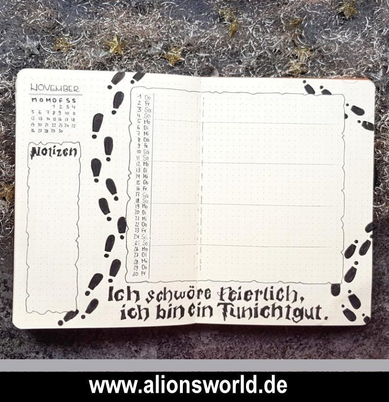 Es wird magisch! Mein Harry Potter Bullet Journal-Setup #septemberbulletjournalcover