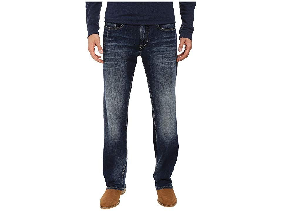 Buffalo David Bitton Driven Relaxed Straight Leg Jeans in Contrast Vintage Contrast Vintage Mens Jeans Stylishly aged denim Fivepocket jean sports a straight leg Faded an...
