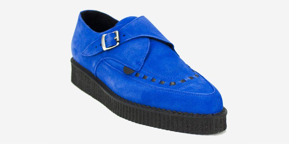 69a0ade78b582 APOLLO CREEPER - ROYAL BLUE SUEDE - SINGLE SOLE - CUSTOM MADE - Underground