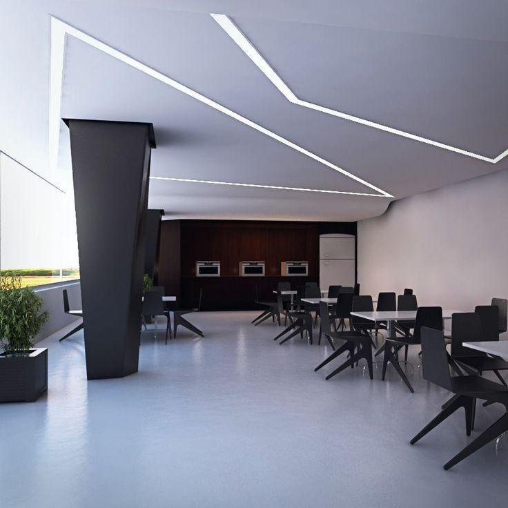 Image Result For Recessed Led Strip Office Ceiling House Design Refurbished Door Home