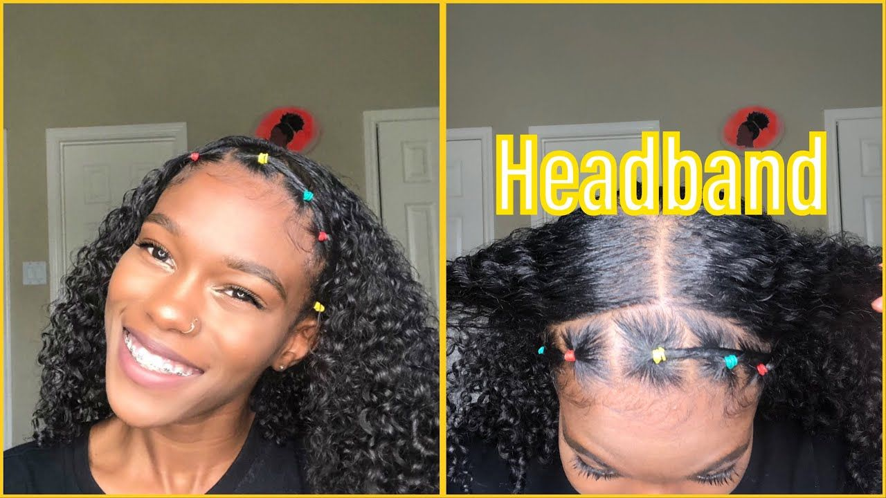 How To: Rubber Band Headband  Natural Hair  Tapered natural hair