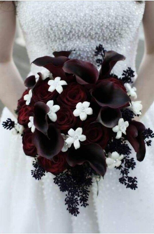 Boeket Gothic Diep Rood Hochzeit Wedding Bouquets Wedding Und