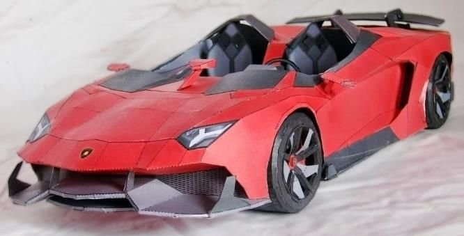 Papermau Lamborghini Aventador J Paper Model By Wongday