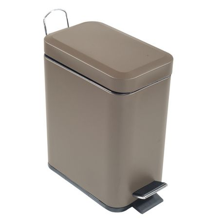 5l Rectangular Metal Step Garbage Can Tan Walmart Canada In