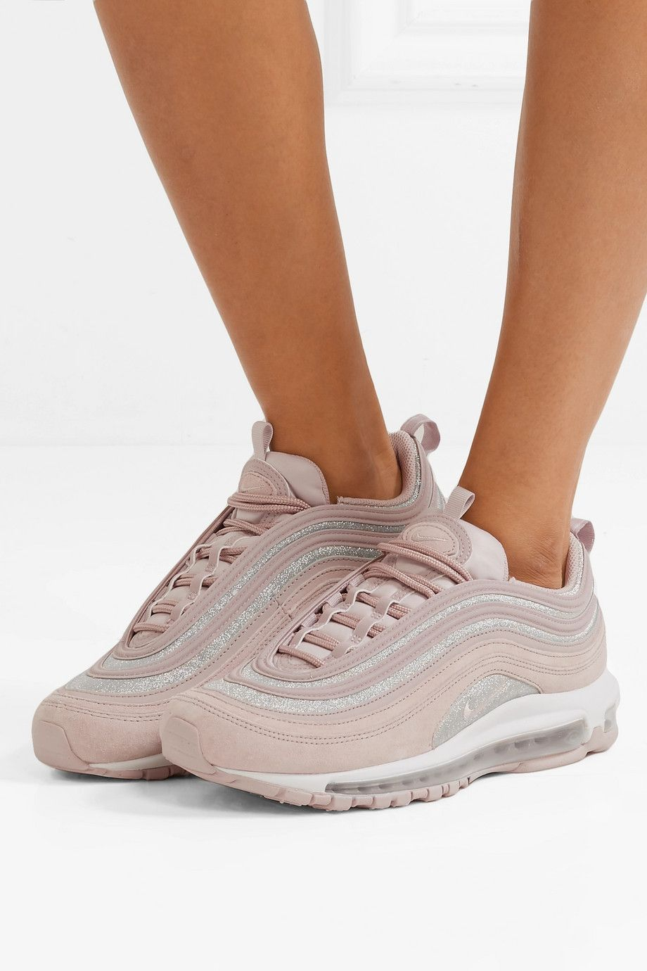 competitive price 8ca87 0a084 Nike   Air Max 97 glittered leather and suede sneakers   NET-A-PORTER.COM
