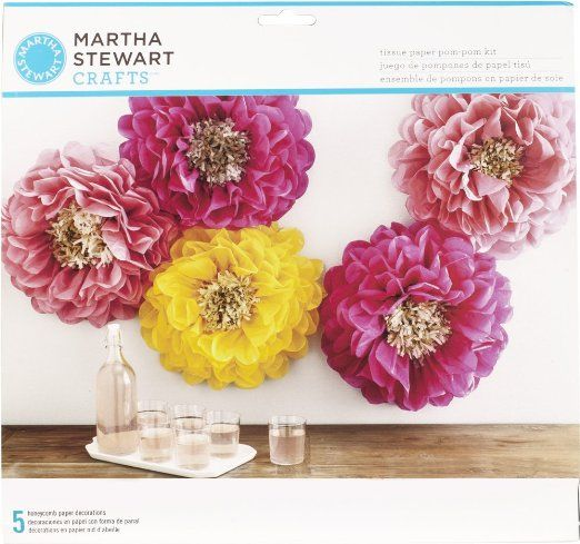 Martha Stewart Crafts 44 20203 Poppy Flowers Tissue Pom Pom Kit