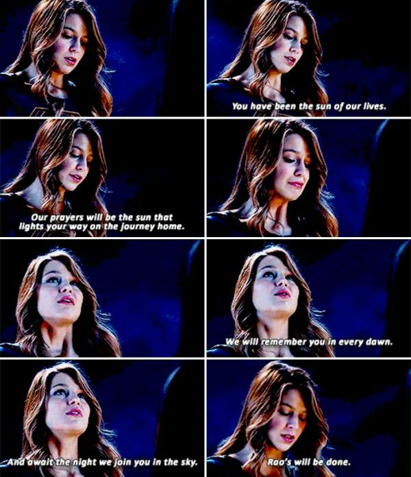"""""""We will remember you in every dawn"""" - Kara Danvers #Supergirl (( R.I.P. Astra :( ))"""