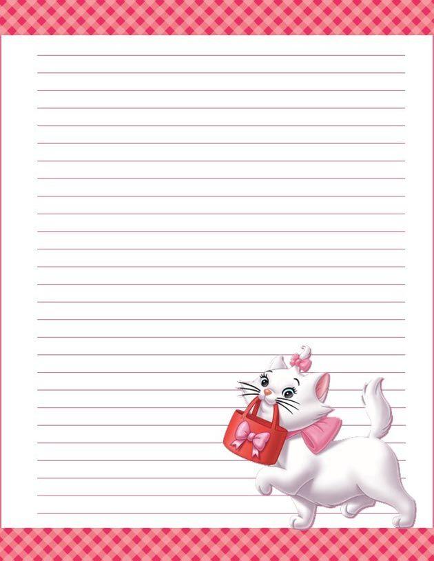 Diseños de cartas con personajes de dibujos para imprimir - Mil ...