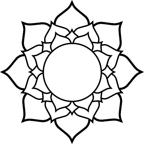 Free Clip Art Lotus Flower - ClipArt Best | Mandala Coloring ...