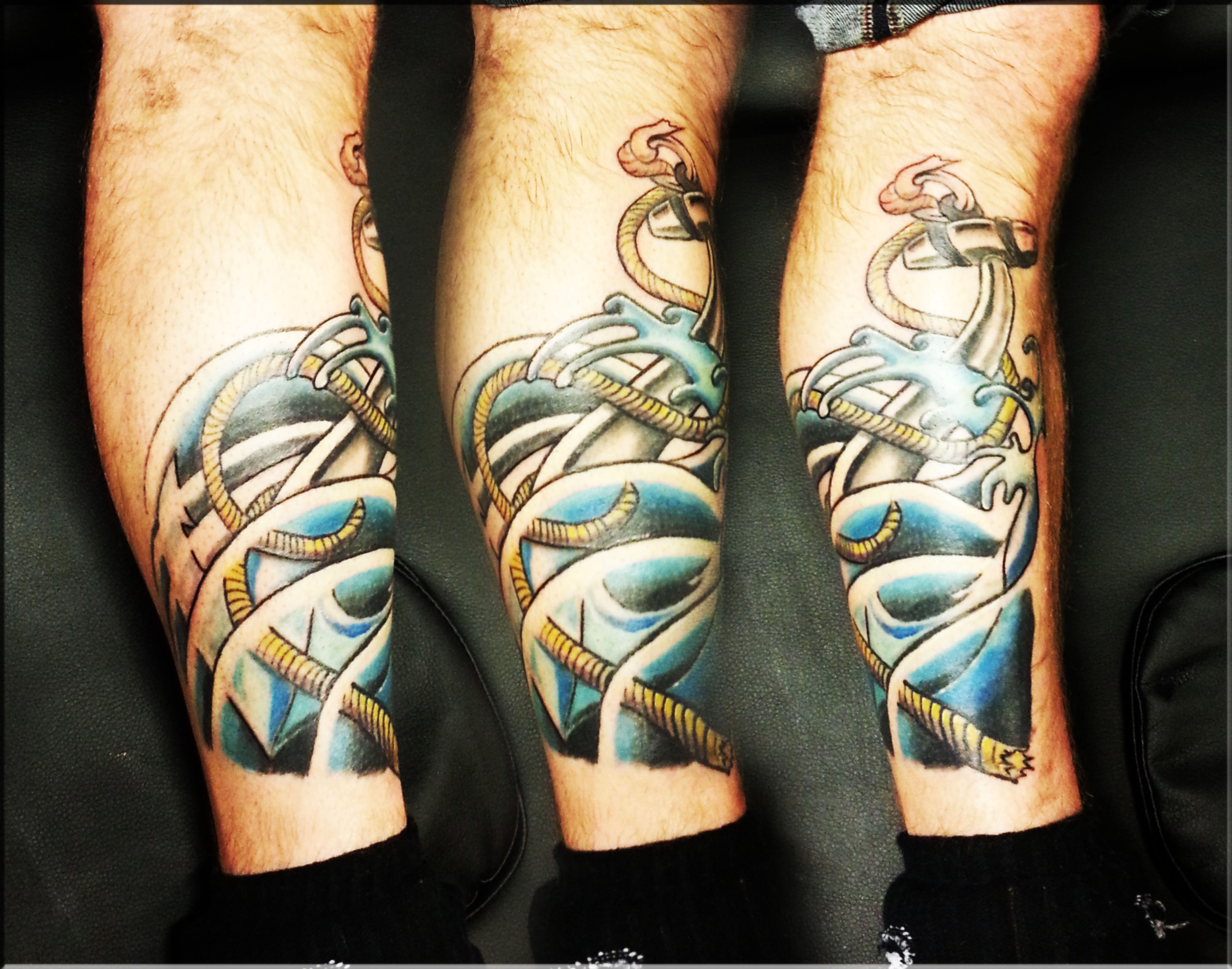 Anchor tattoo color lafayette louisiana traditional for Tattoo shops lafayette la