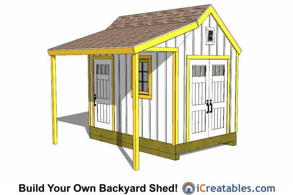 8x12 Shed Plans Buy Easy To Build Modern Shed Designs Shed Design 8x12 Shed Plans Shed With Porch