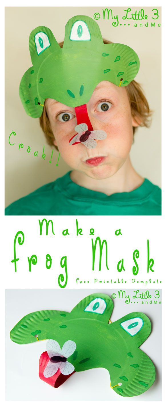 Make a curly tongued fly catching Paper Plate #Frog Mask. CROAK! (mylittle3andme.co.uk)  sc 1 st  Pinterest & PAPER PLATE FROG MASK | Frog mask Frogs and Masking