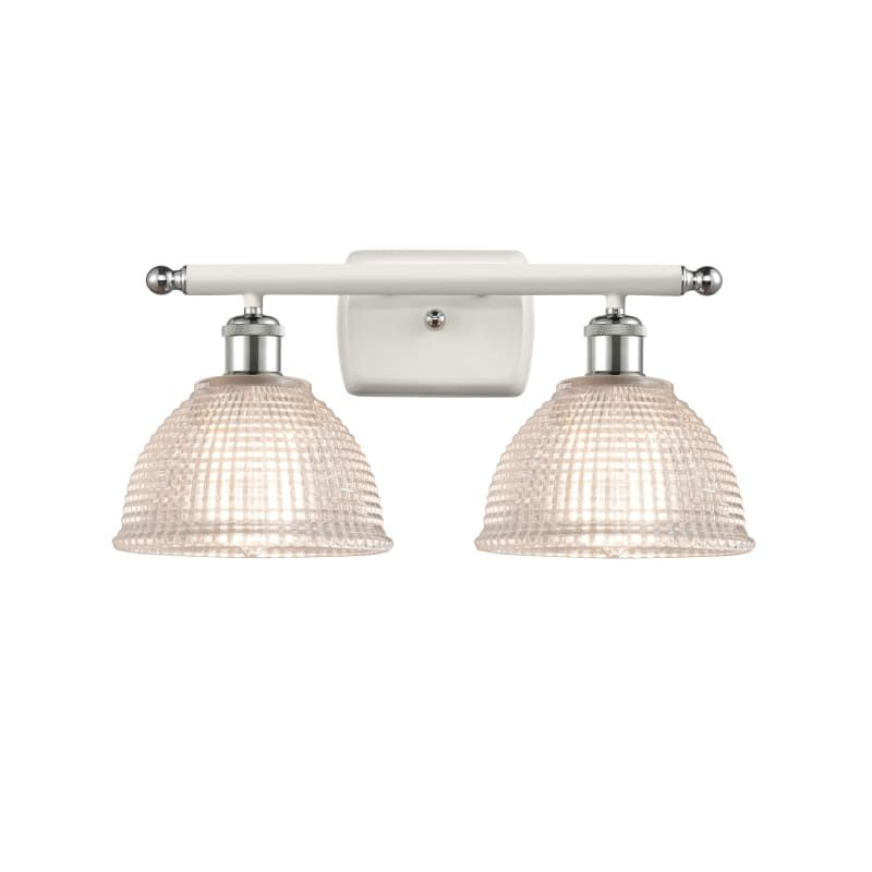 "Photo of Innovations Lighting 516-2W Arietta Arietta 2 Light 16 ""Wide Bathroom Vanity Lig White and Polished Chrome / Clear Indoor Lighting Bathroom Lights"