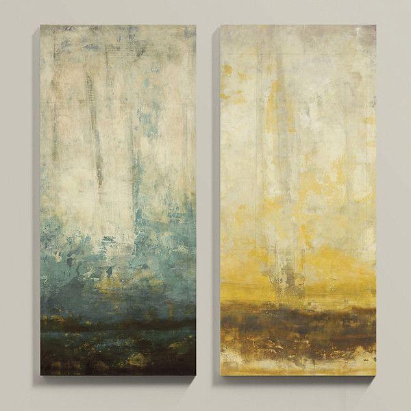 Ballard Designs Seasons Stretched Canvas Blue 50\