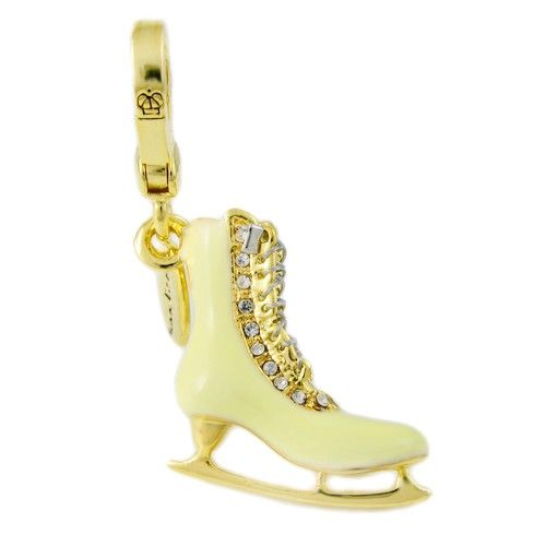 Juicy Couture light yellow skating shoes charm