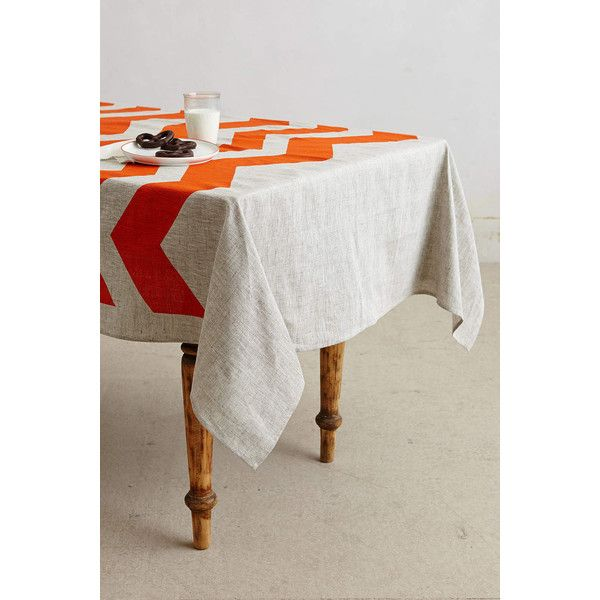 Bonnie & Neil Chevron Tablecloth - Polyvore   Table cloth ...
