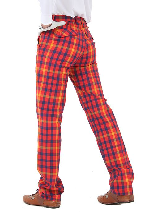 Details about Mens plaid golf pants for men stretch comfortable ...