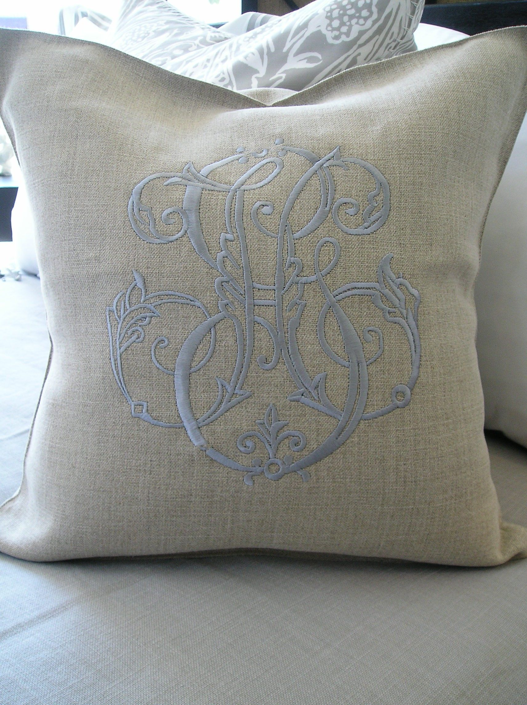 air savvy the monogrammed cricut pillows cover budget pillow bride monogram using glitter explore