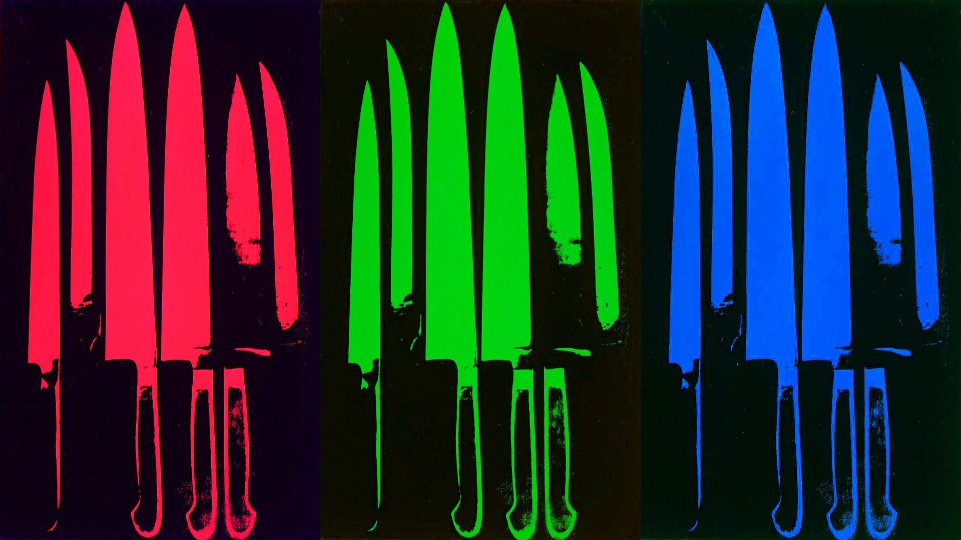 Andy Warhol Andy Warhol Knives wallpaper