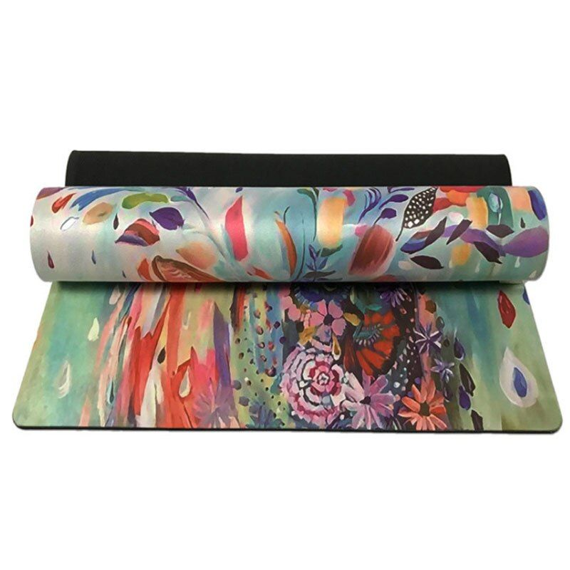 #3.5mm #rubber #yoga #mat #art #print #fitness #painted #fawn #suede #sporting #goods