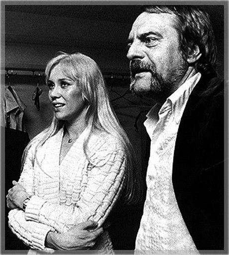 Agnetha and Stikkan 1975 backstage.