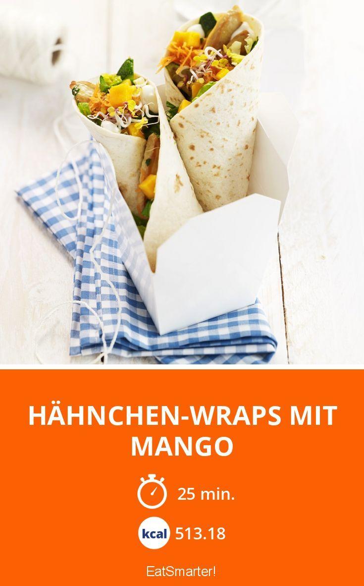Hähnchen-Wraps mit Mango