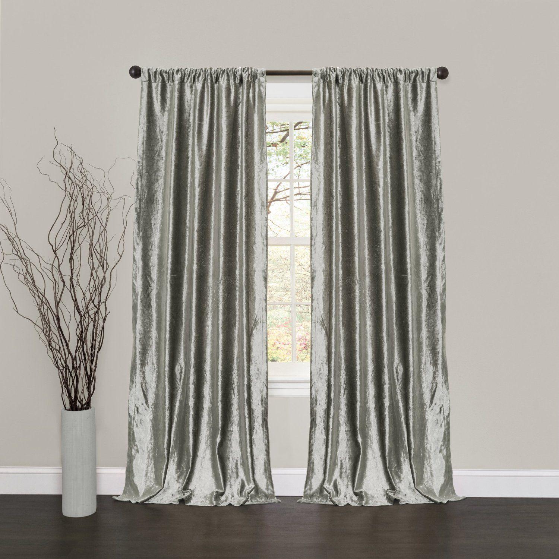 Amazon Com Lush Decor Velvet Dream Window Curtain Panels 84 By