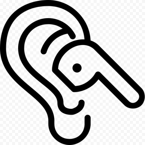 Airpods Earbuds In Ear Outline Black Icon In 2020 Outline Icon Earbuds