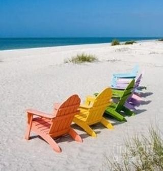 Forever Outdoor proudly serves Central Florida! Our #adirondackchairs look great out on the beach outside of your #home or #vacationhome. #summer #florida #beach