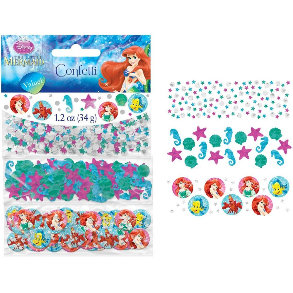 Disney Little Mermaid Ariel Confetti Birthday Party Supplies