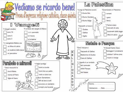 Prova d 39 ingresso di religione cattolica per la classe for Crucipuzzle quaresima