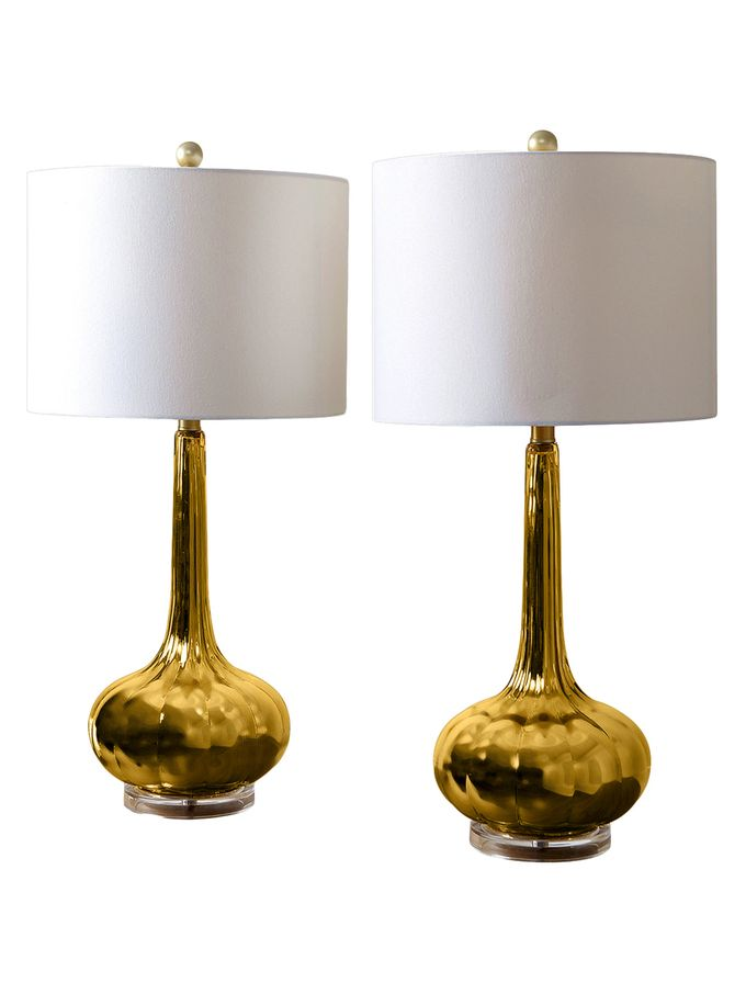 Selia Antiqued Table Lamps Set Of 2 From Good As Gold Art Lighting More On Gilt Antique Table Lamps Lamp Glass Table Lamp