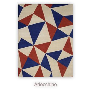 Arlecchino rug inspiration from medieval Japanese flag