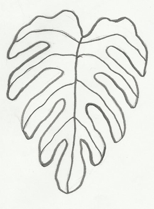 Desenho De Folha Para Imprimir E Colorir Desenhos Para