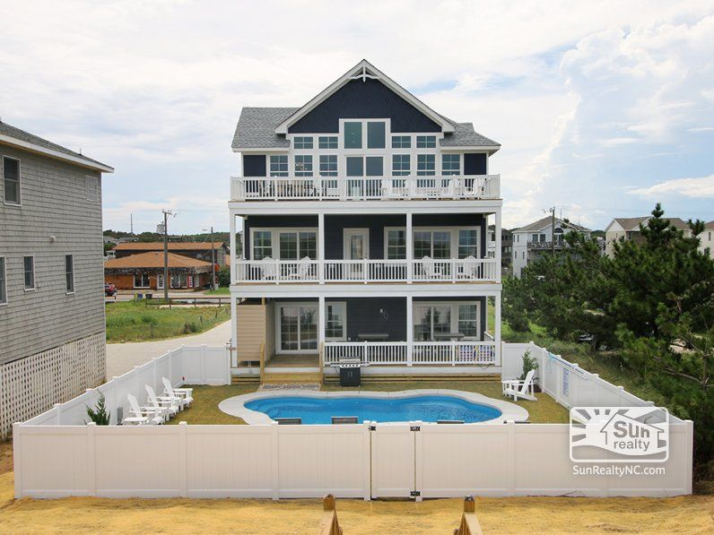 Rear Exterior Outer Banks Vacation Rentals Outer Banks Vacation Obx Vacation