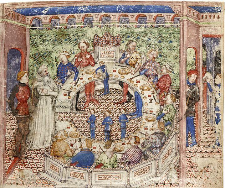 Sir galahad is introduced to king arthur 39 s knights - La table ronde du roi arthur ...